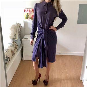 Sportmax dark purple tie dress